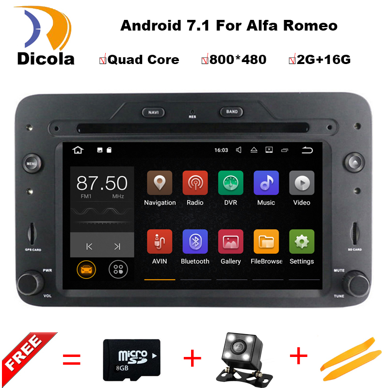 Android 7 1 1 Quad core RK3188 cpu car dvd player For Alfa Romeo Spider Alfa