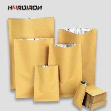 Kraft Paper Pack Bag Inner Aluminum Plating Thicken Yellow C