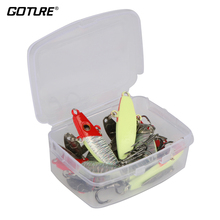 Goture 8 Pcs/lot  Winter Fishing Lure Spoon 7g 5cm Artificial Bait Ice Fishing Jig Fishing Tackle 4 Color Available
