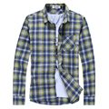 Los hombres Camisa de 2017 del Resorte Camisa de Negocio de La Moda Nuevo Diseño de Alta Calidad Telas De Los Hombres Camisa A Cuadros Informal Masculina más tamaño M ~ 3XL