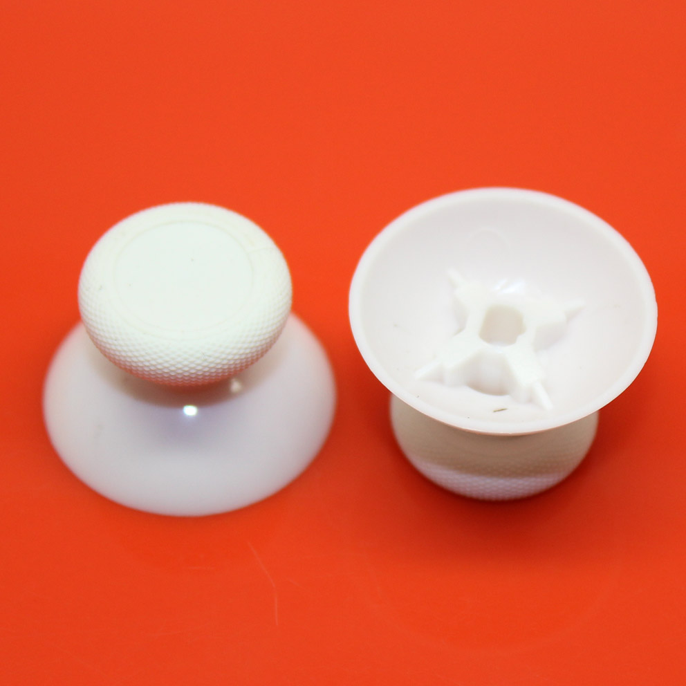 2pcs White Mushroom Analog Joystick Cover Caps Thum Sticks Grips For X