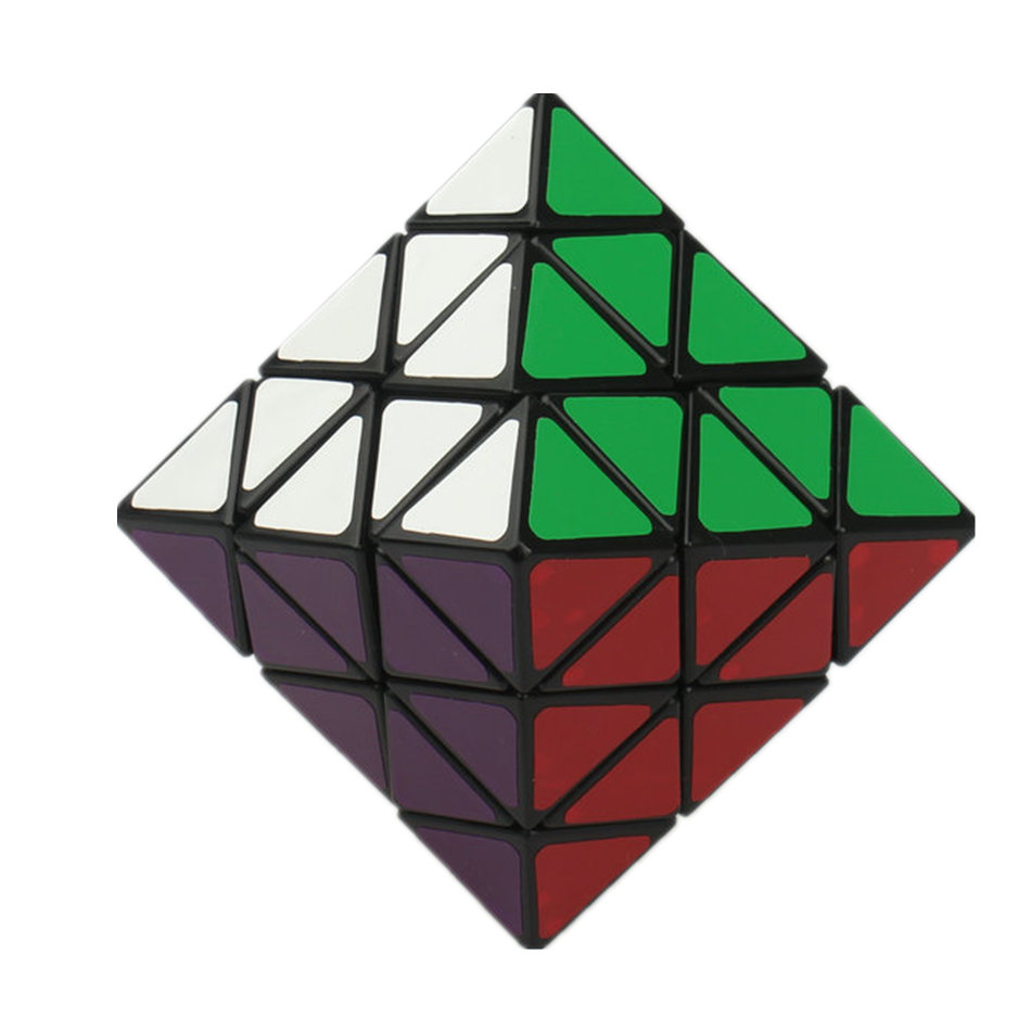 LanLan 8-Axis Octahedron 3x3 Magic Cube Black Puzzle Educational Toy Special Puzzle Cube Toys For Children Kids Gift Toy