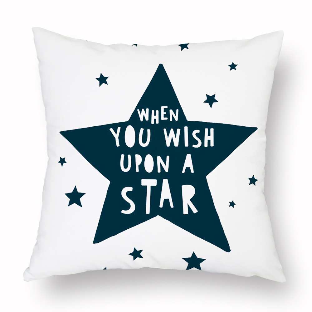 Cartoon Geometry Cushion Cover Trees Stars Cactus Bear Print Decorative Pillow Covers for Sofa Bed Sweet Home Decor Case 45x45cm in Cushion Cover from Home Garden