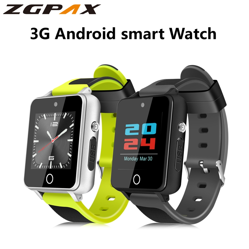 ZGPAX S9 montre intelligente Android 5.1 Mtk6580 1 GB + 16 GB prend en charge la carte SIM TF Bluetooth 4.0 3G GPS Wifi SmartWatch avec 2.0 caméra-in Montres connectées from Electronique    1