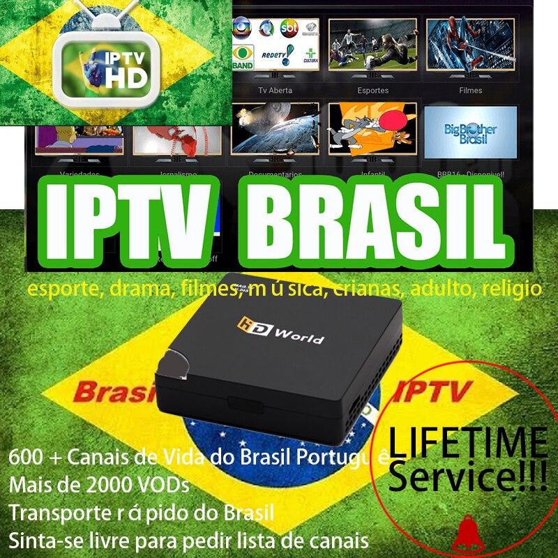 Brasil Portugal IPTV Lifetime MAG TV Set Top Box iptv Brazil Latino Iptv 600+ Portuguese Brazil Sports Kids Music Drama Movies