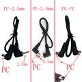 При заказе 1-10 штук PC-2.5mm PC-3.5mm PC-PC iphone зарядное устройство переменного тока с синхронизацией с компьютером гнездо для кабеля для вспышки триг...