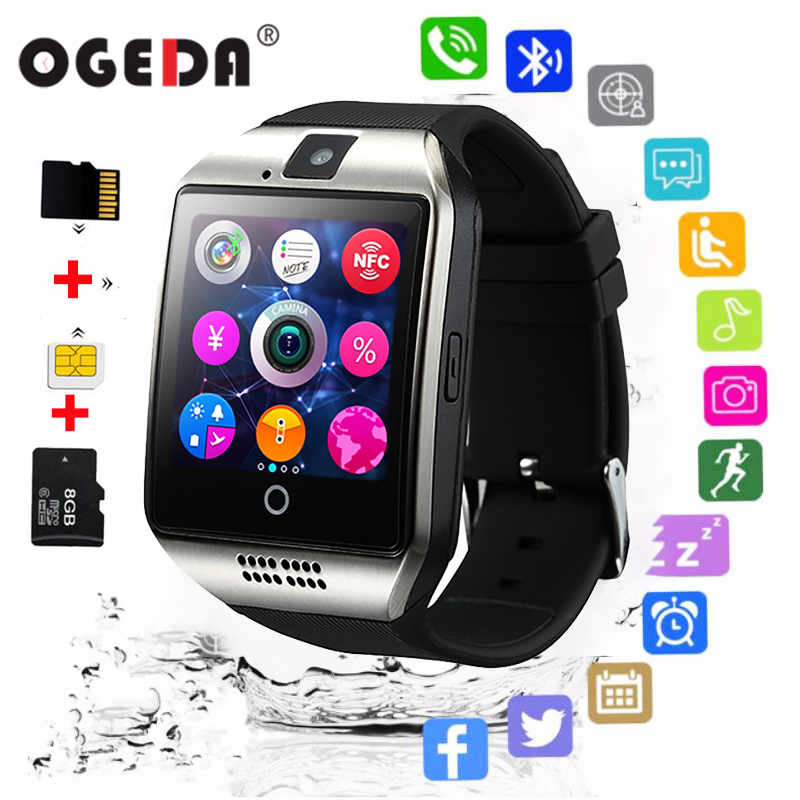 OGEDA Bluetooth music Smart Watch Q20 With Camera Facebook app Twitter Sync SMS Smartwatch Support SIM TF Card For IOS Android image
