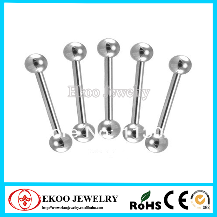 Heavy Gauge Barbell 8 Gauge Surgical Steel Tongue Barbell 3x16x6mm