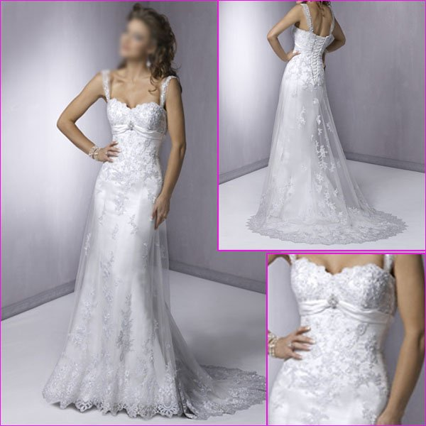 Wedding Gown Wholesalers: Wholesale Retail Hot Sale Double Straps White Lace