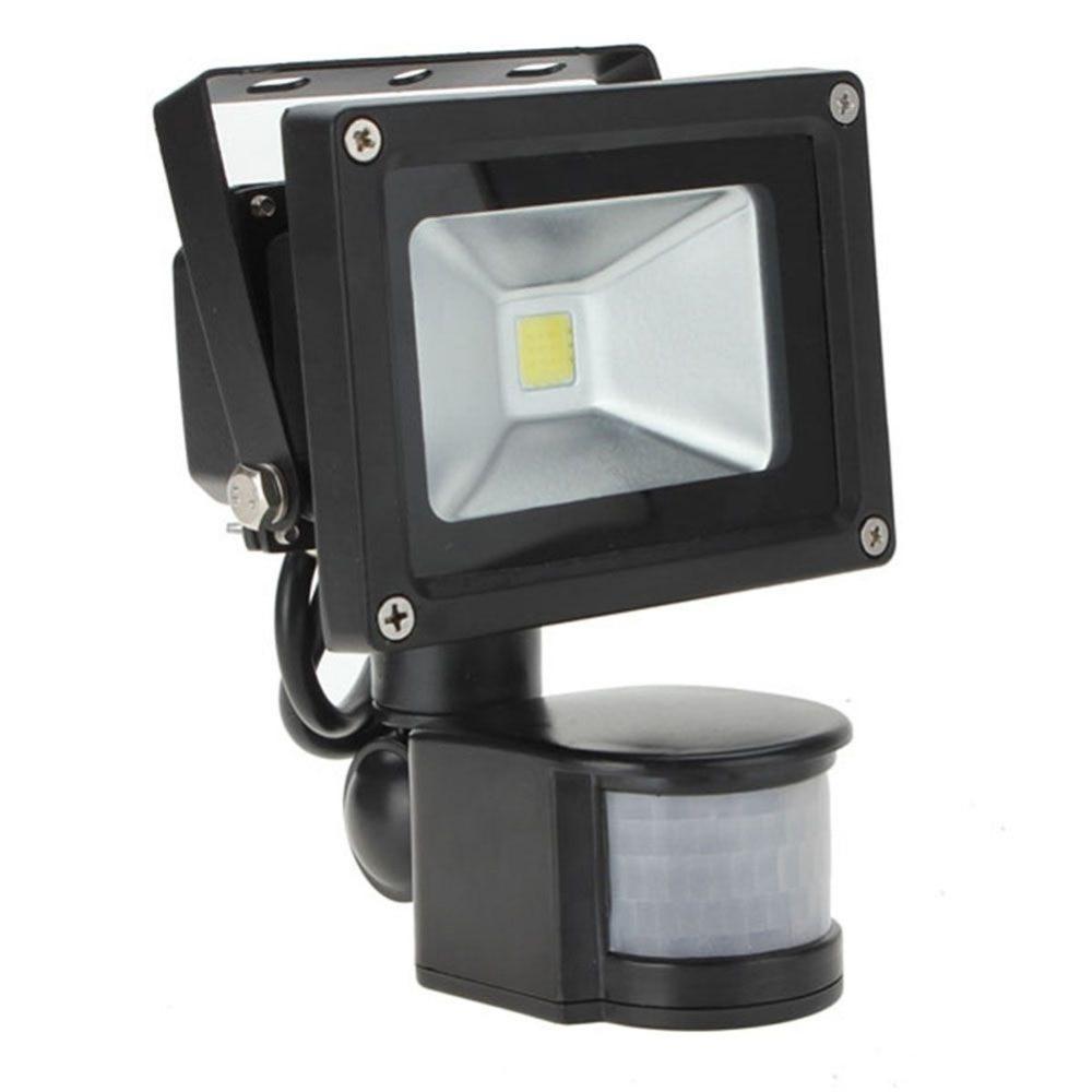 10W 800LM PIR Motion Sensor Security LED Flood Light 85 265V adjust Low  powe OutsidePopular Pir outside Lights Buy Cheap Pir outside Lights lots from  . Exterior Pir Led Lights. Home Design Ideas