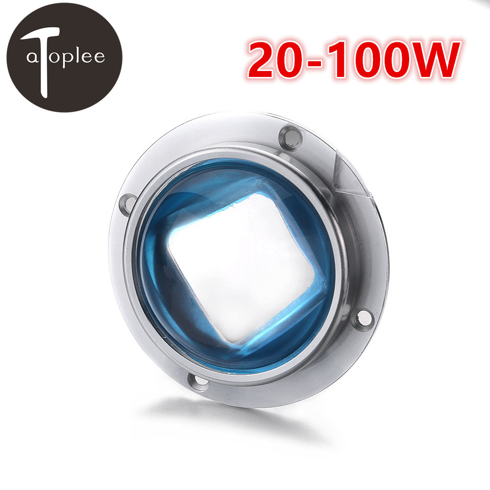77mm Optical Glass Concave Spherical Lenses Beam Angle For 20W-100W LED