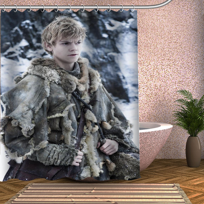 Thomas Sangster Shower Curtain Eco-friendly Modern Fabric polyester Custom Bath Curtains Home Decor