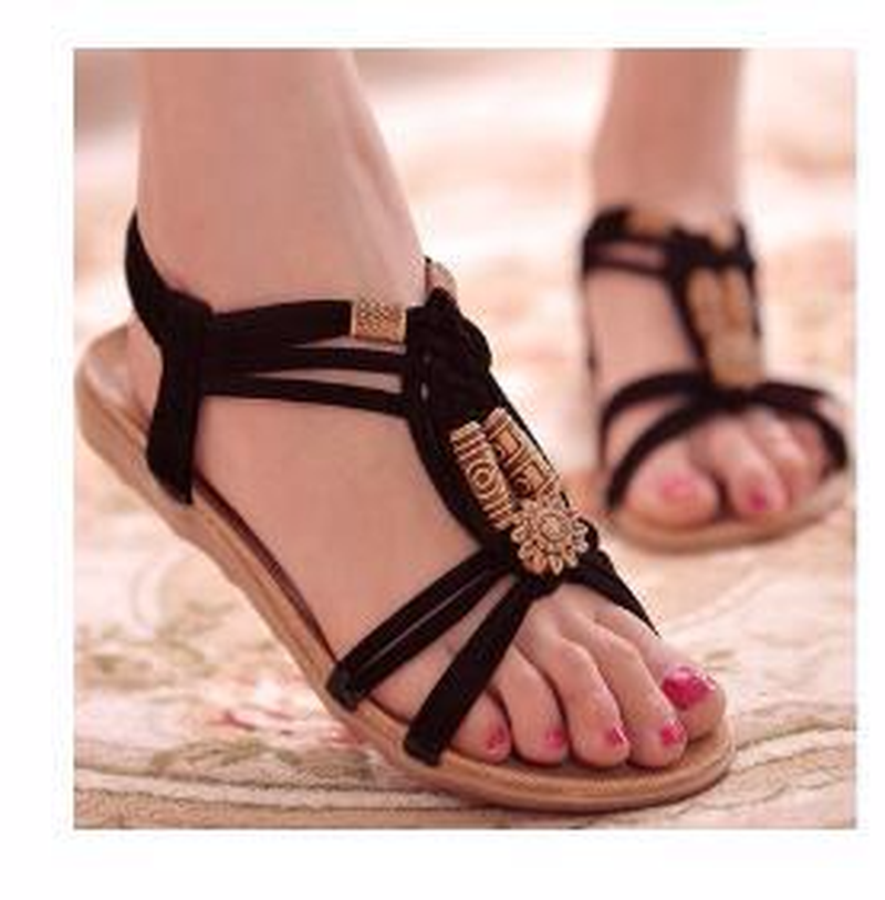 New Women Sandals Fashion Summer Women Shoes Bohemia Gladiator Beach Flat Casual Sandals Leisure Female Ladies Sandals WomenNew Women Sandals Fashion Summer Women Shoes Bohemia Gladiator Beach Flat Casual Sandals Leisure Female Ladies Sandals Women