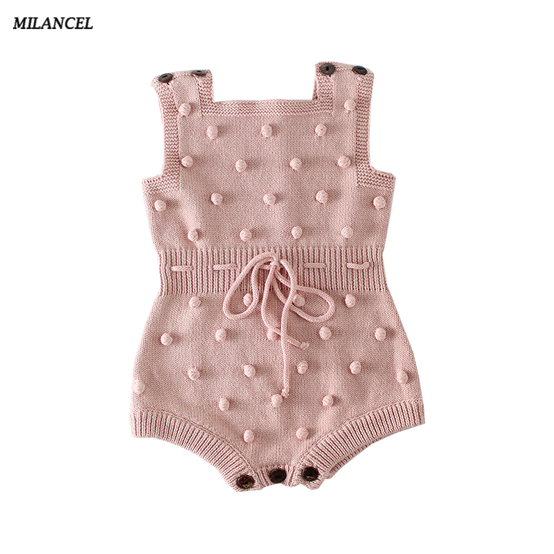 MILANCEL 2019 Baby Bodysuits Spring New Baby Boys Clothes Handmade Prom Toddler Girls Bodysuits Knit Bodysuits For Baby Girls