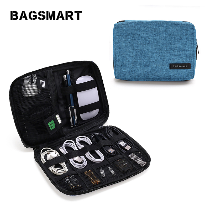 Bagsmart Mens Travel Electronic Accessories Organizer Bags