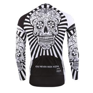 Image 3 - 2019 Autumn Pro Long Sleeve Cycling Jersey Skull Retro Men Full Sleeve Cycles Shirt Wear Team Ropa De Ciclismo Long Bike Jersery
