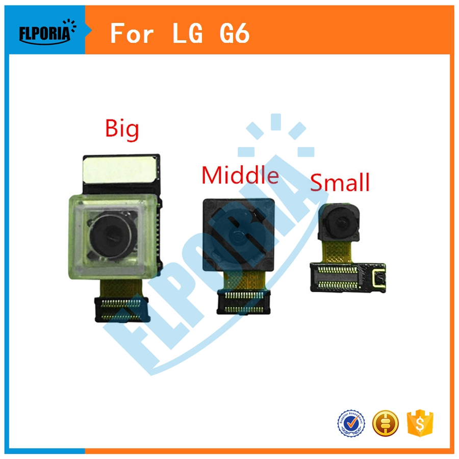 For LG G6 Big Back Rear Camera Middle Camera Small Facing Front Camera With Flex Cable Replacement Parts