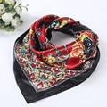 2016 Fashion Women Lady Floral Printed Square Scarf 90*90cm Head Wrap Shawl Multi Colour Headscarf For Women #1201