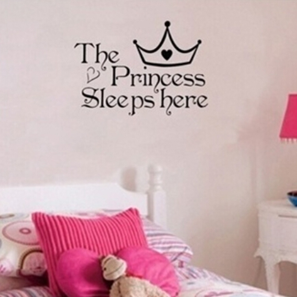 baby Princess sleeps here quotes wall sticker,girl gift