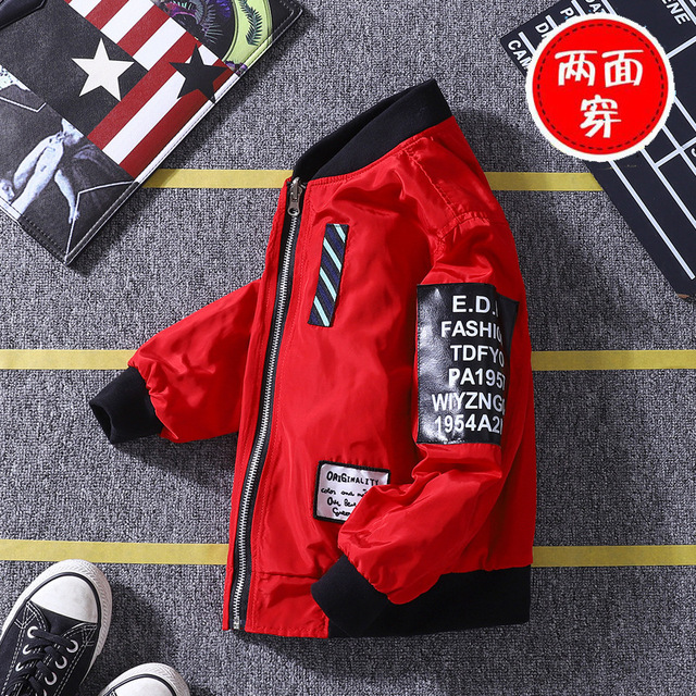 Long Sleeve Coat for Boys and Girls Kids Jacket New Children's Cloth New Children's Wear on Both Sides of The Coat 4-14 Ages