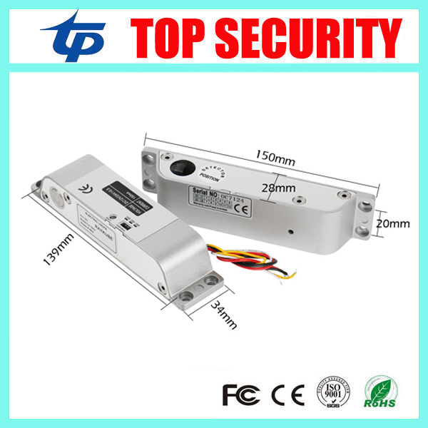 Free Shipping DC 12V Fail Safe Electric Drop Bolt Lock 5 Line Electric Bolt Lock for Door Access Control Security Lock Door surface mounting type dc12v fail safe mode electric bolt lock for access control or intercom system
