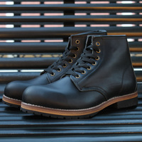 Micholediys 2018 Handmade Red Men's Wing Boots AMKJi Work Shoes Wing bronze Chunky Work Boots