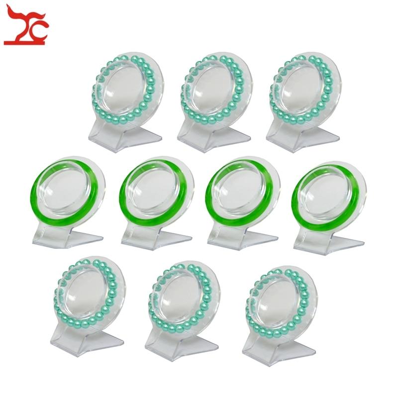 Wholesale 10Pcs Clear Jewelry Bracelet Display Holder Bangle Organizer Rack Acrylic Bracelet Display Collar Stand Holder