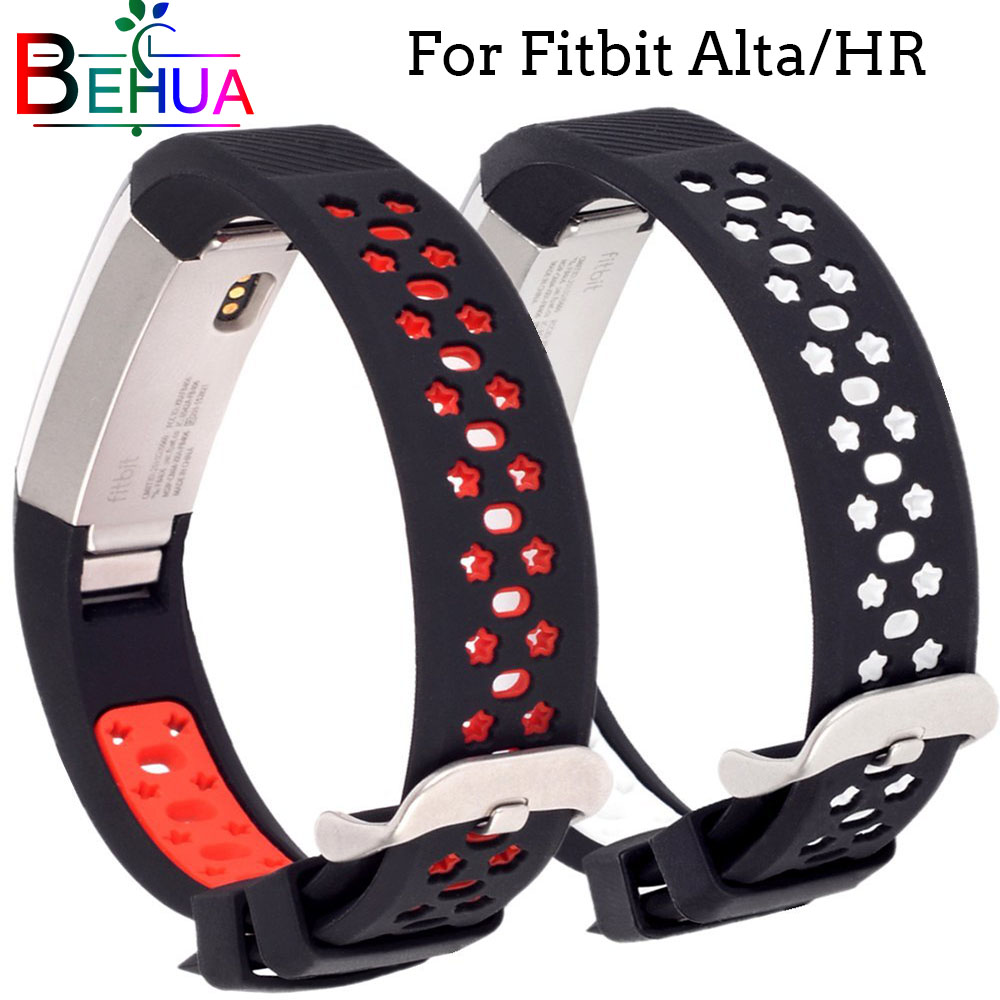Hot sale Soft Silicone Strap For Fitbit Alta/Alta HR Sports WatchBand Wristband Bracelet Replacement Accessories High Quality stainless steel watch band wrist strap for fitbit alta hr fitbit alta metal watchband fitbit alta fitbit alta hr metal band