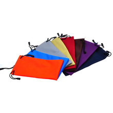 Classic glasses bag simple multi-color thick high quality glasses microfiber waterproof glasses bag for all kinds of glasses cheap Cases Bags Eyewear Accessories 8 5cm Unisex 7012 curtain Solid 0 01kg 18cm