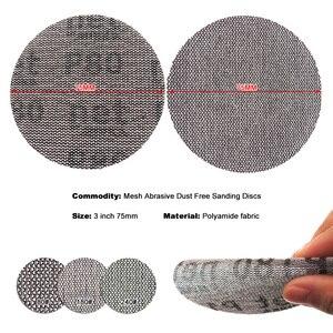 Image 3 - 15Pcs Mesh Abrasive Dust Free Sanding Discs 3 Inch 75mm Anti blocking Dry Grinding Sandpaper 80 to 240 Grit