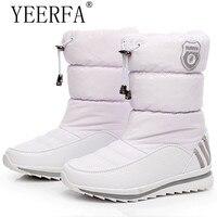 YIERFA Women Snow Boots 2017 New Arrival Warm Plush Winter Shoes Women Platform Shoes Waterproof Non