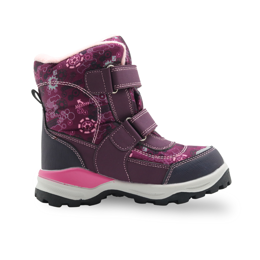 Image 3 - Apakowa Little Girls Snow Boots Children's Winter Woolen Footwear for Snow Weather Skiing Hiking Fashion School Wearing Shoes-in Boots from Mother & Kids
