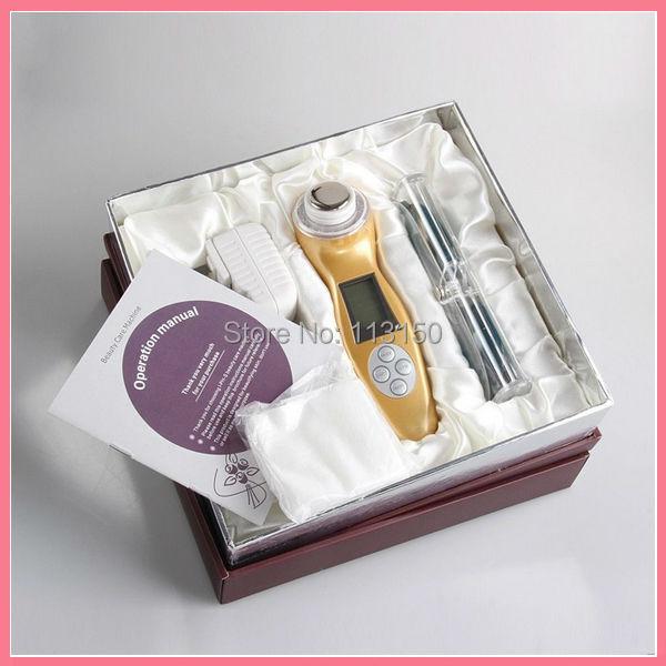 5pcs\lot DHL Free shipping 3MHz Ultrasonic Sonic Ion Photon Skin Rejuvenation Vibrate Massage Beauty Device