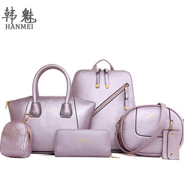 2017 1Set /6PCS New Women Shoulder Bag Retro Vintage Messenger Handbag Tote Satchel Purse Quality Free Shipping P118