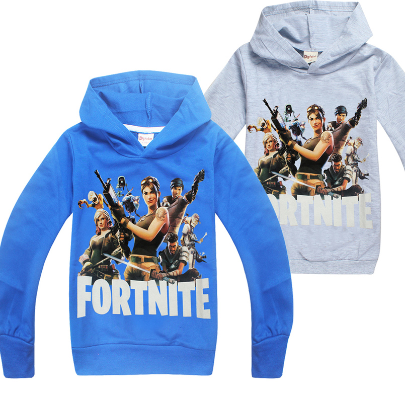 6-14y Fortnite Battle Royale Legend Gaming Pattern Clothes Boys Hoodies Cartoon Children T Shirts Kids Sweatshirts for Boys Tops