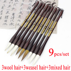 9 pcs weasel hair ch...