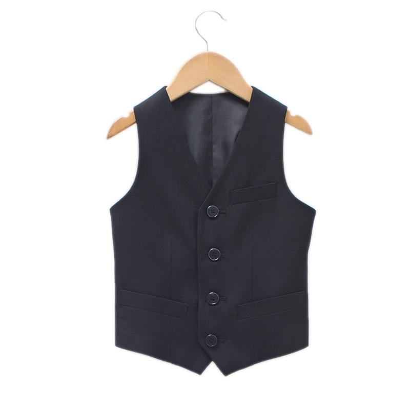 Baby Boy Formal Dress 2017 New Boys Vest children boys Vest leisure Clothes Kids Wedding prom Fashion Vest Boys Porm Suits
