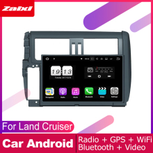 ZaiXi For Toyota Land Cruiser Prado 150 2009~2013 Car Android Multimedia System 2 DIN Auto DVD Player GPS Navi Navigation Radio цена