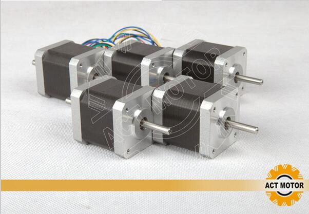 ACT 5PCS Nema17 Stepper Motor 17HS5425B24 Dual Shaft 2Ph 70oz-in 48mm 2.5A 300mm Wire CE ROSH ISOACT 5PCS Nema17 Stepper Motor 17HS5425B24 Dual Shaft 2Ph 70oz-in 48mm 2.5A 300mm Wire CE ROSH ISO
