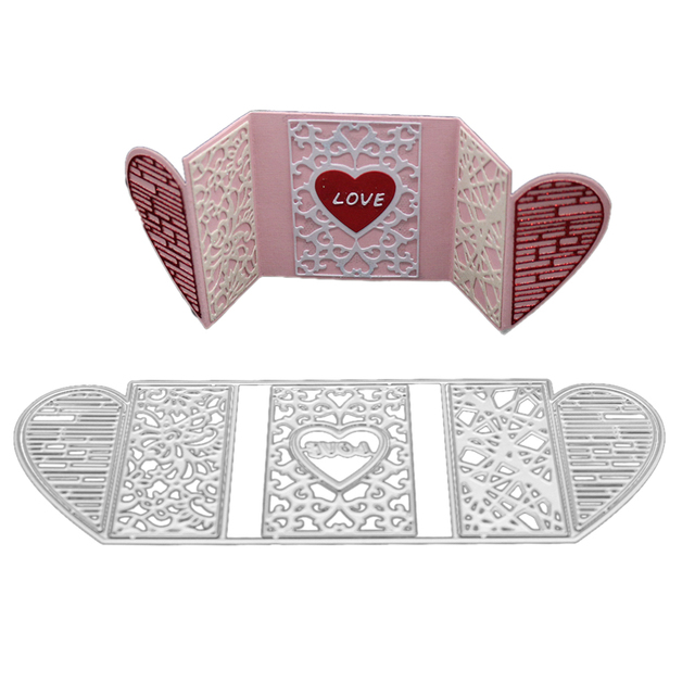 Gowing 21.8x7.6cm Heart Frame metal cutting dies new 2018 ...