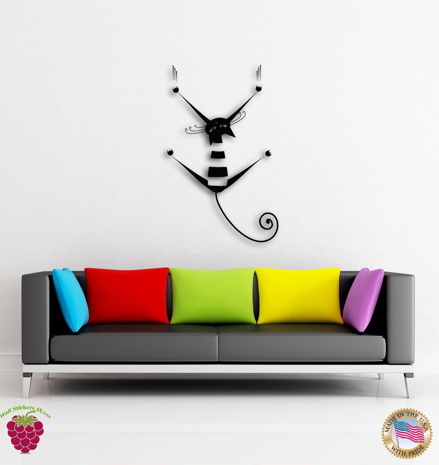 nuevos adhesivos de pared de vinilo gato gatito mascotas araan divertido decoracin for living room