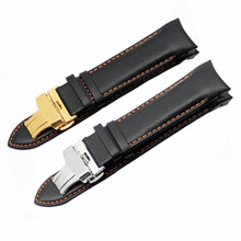 Genuine Leather 22MM 23MM 24MM Butterfly Buckle Watchband For Tissot For T035 Watch Band Straps And Tool все цены