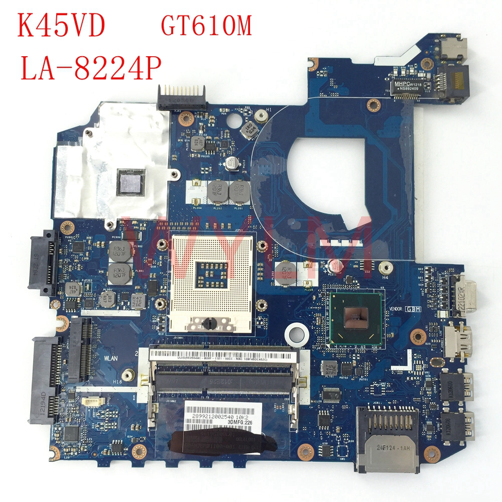 K45VD GT610M 2G QCL41 LA-8224P mainboard For ASUS A45V A85V K45VD A85V K45V K45VM K45VJ K45VS Laptop motherboard free shipping for asus k45vj k45vm 2gb 8pcs of storage laptop motherboard mainboard qcl40 la 8221p tested ok free shipping