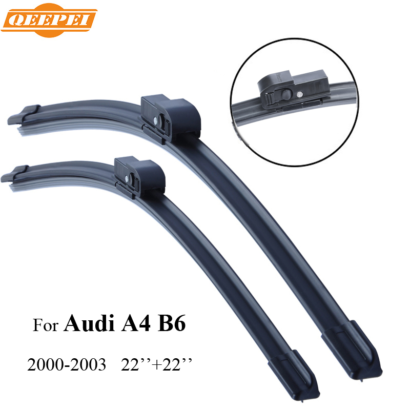 QEEPEI Wiper Blade For Audi A4 B6 2000-2003 22'' 22'' Car Accessories Auto Rubber Windshield ...