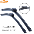 QEEPEI Wiper Blade For Audi A4 B6 2000-2003 22''+22'' Car Accessories Auto Rubber Windshield Windscreen Wipers,CPZ101