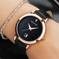 SANDA Brand Quartz Watch Ladies Waterproof Leather Watch Watch Fashion Romantic Woman Watch Relogio Faminino
