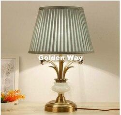 Nordic rocznika E27 LED D360mm H560mm brąz Jade AC tabeli światła lampka na biurko dekoracja do domu do sypialni lampa stołowa AC 100% gwarantowana