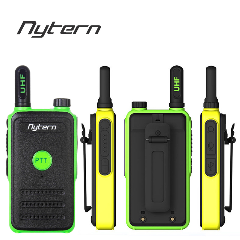 2PCS Nytern Handheld Walkie Talkie  Portable  Ham Two Way Radio High Power Intercom Outdoor  Mini Walkie TalkieTransceiver