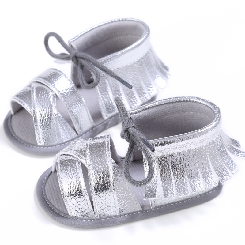 Infant First Walkers Newborn Baby Toddler Shoes PU Lace Up Tassel Antiskid Shoes 0-18M RZ