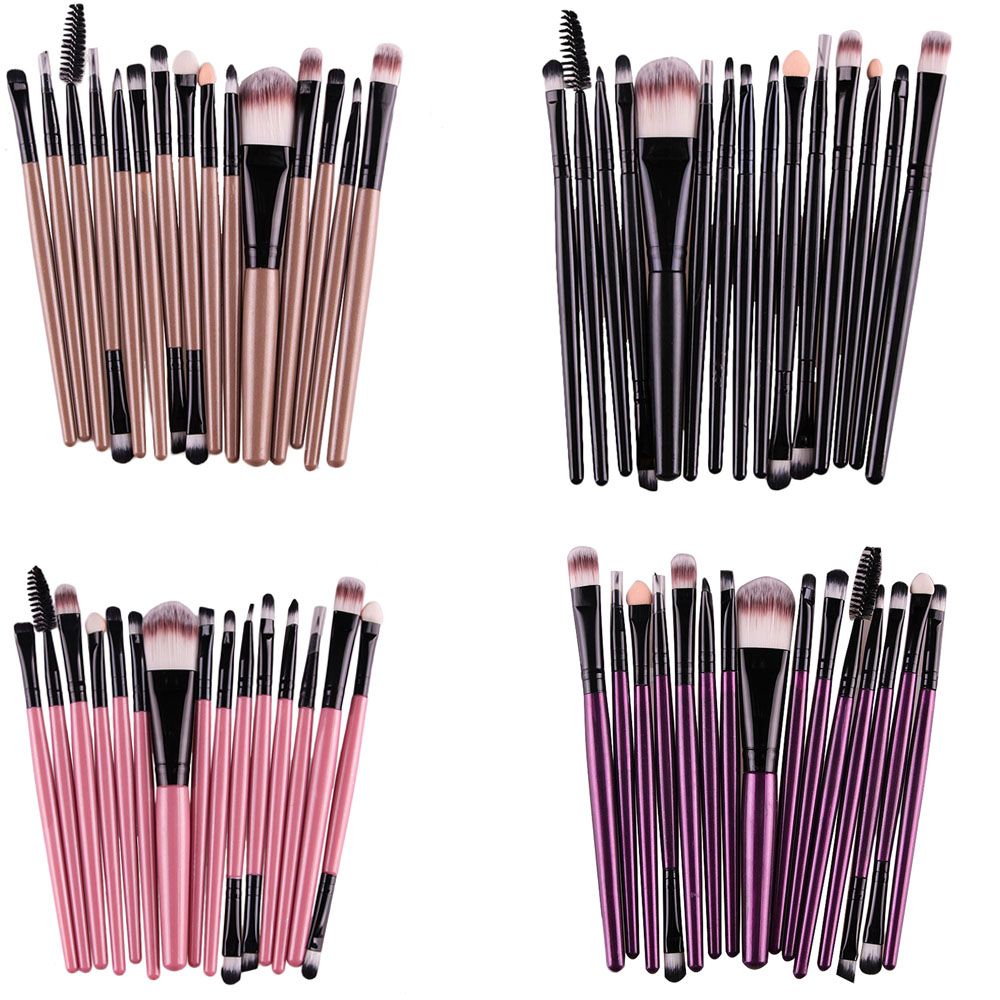 15Pcs Cosmetic Makeup Brushes Set Powder Foundation Eyeshadow Eyeliner Lip Brush Tool Brand Make Up Brushes Beauty Tools AP233 professional 15pcs set facial makeup brushes set eyeshadow eye make up brush beauty blush powder foundation cosmetic brush tool
